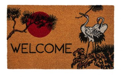 Victoria and Albert Museum Cranes Coir Doormat